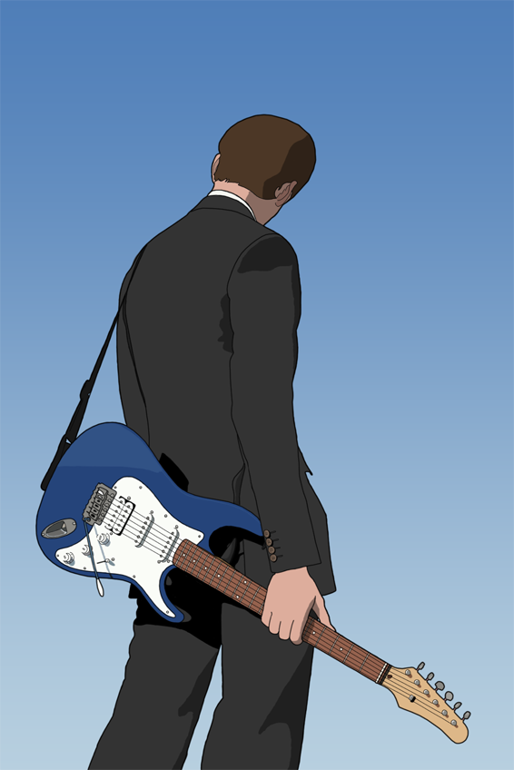 Guitarist vector by SanityP