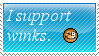 I Support Winks Stamp by Oushuu