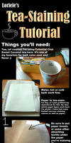 Tea-Staining Tutorial by Loriele