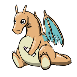 baby charizard by Gilokee
