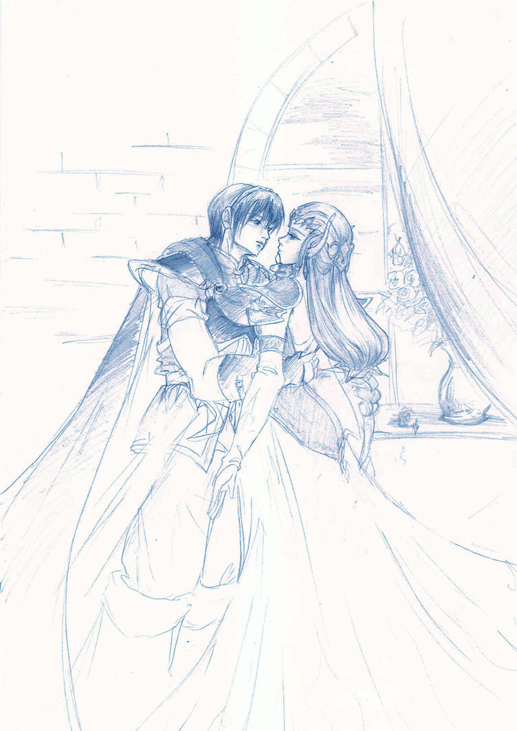 Marth and Zelda by Spelarminlind