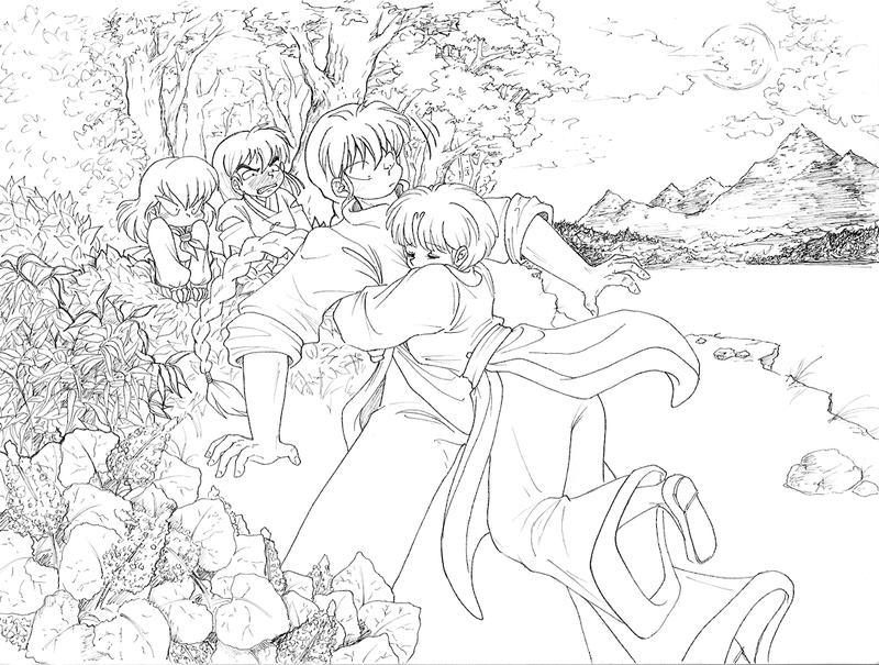 ranma 1 2 coloring pages | Ranma 1 2 Shampoo Coloring Page Coloring Pages