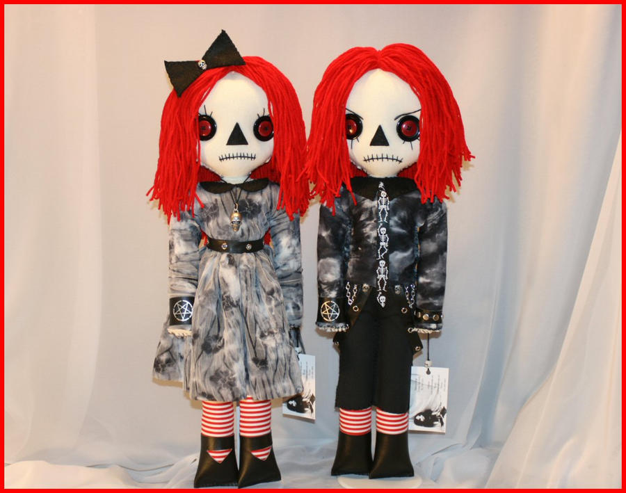 Goth Raggedy Ann and Andy by Zosomoto on DeviantArt