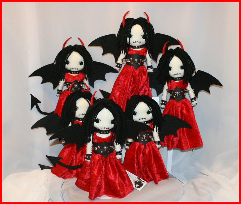 Mini Creepy Devil Dolls by Zosomoto