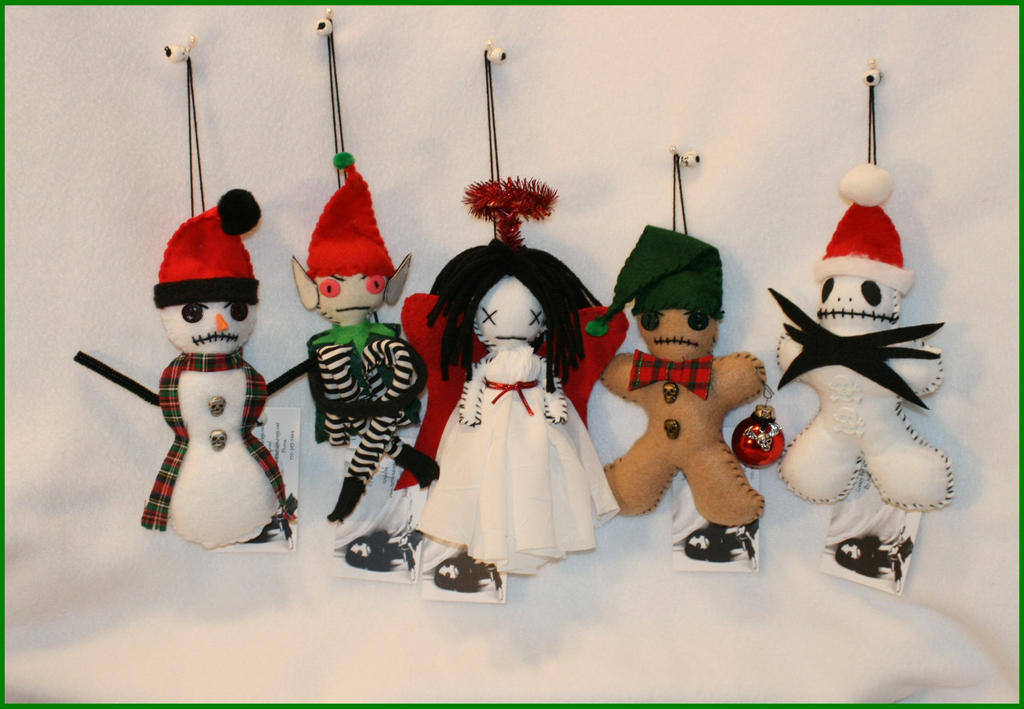 Creepy Christmas Ornaments by Zosomoto