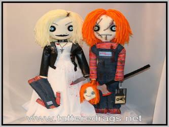 In the likeness of Chucky and Tiffany by Zosomoto