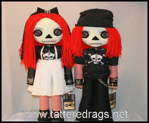 Raggedy Ann and Andy rag dolls by Zosomoto
