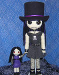 Gothy Girl in Top Hat Rag Doll