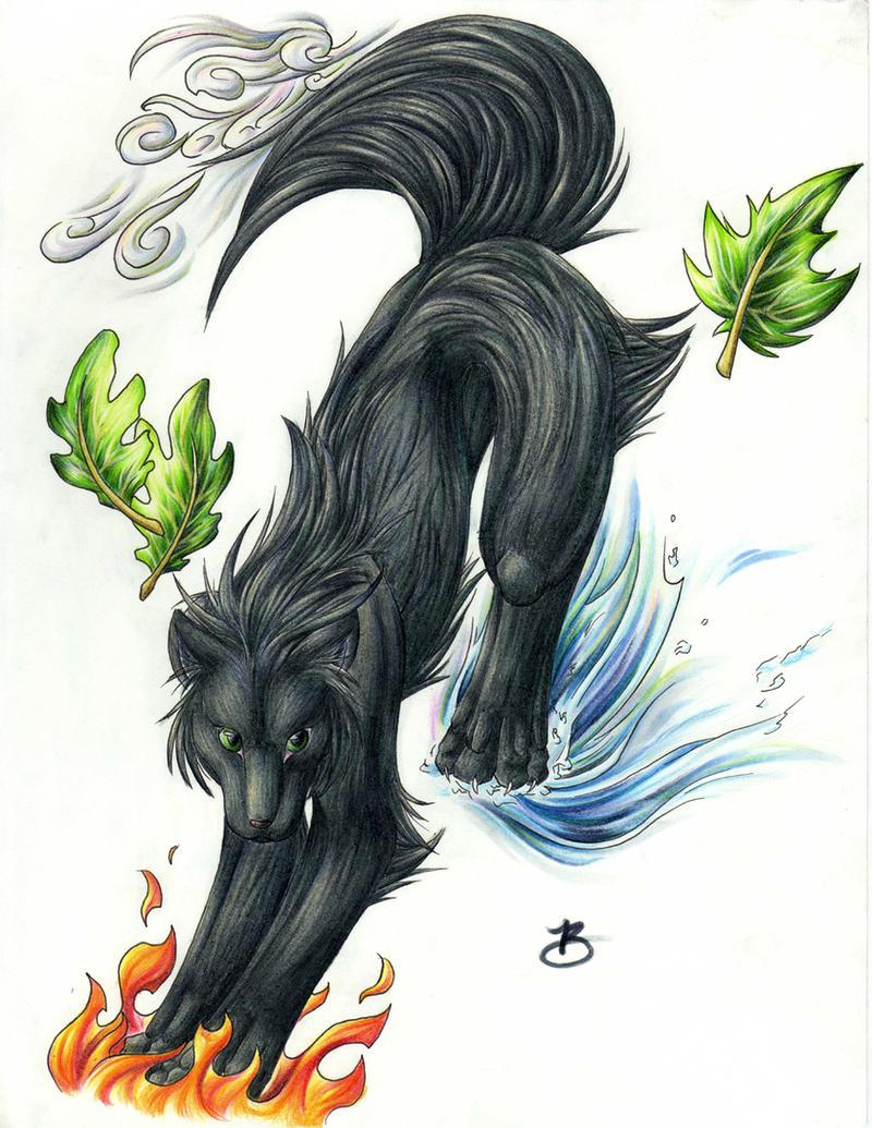 Elemental Wolf by blaz...