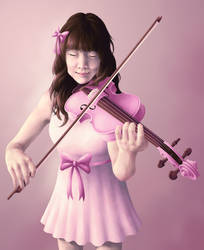 Violin Portrait (commission) by blazheirio889