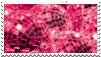 Aesthetic Stamp no. 6- pink disco balls by TheDiscoTurkey