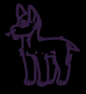 - Smol Pupper Lineart F2U-