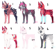 -{Lit Bull Terrier Adopts}- by BleedingColorAdopts