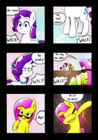 Fluttershy Disses by MustachedBain