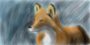 Fox sketch by KatsumiShiokawa