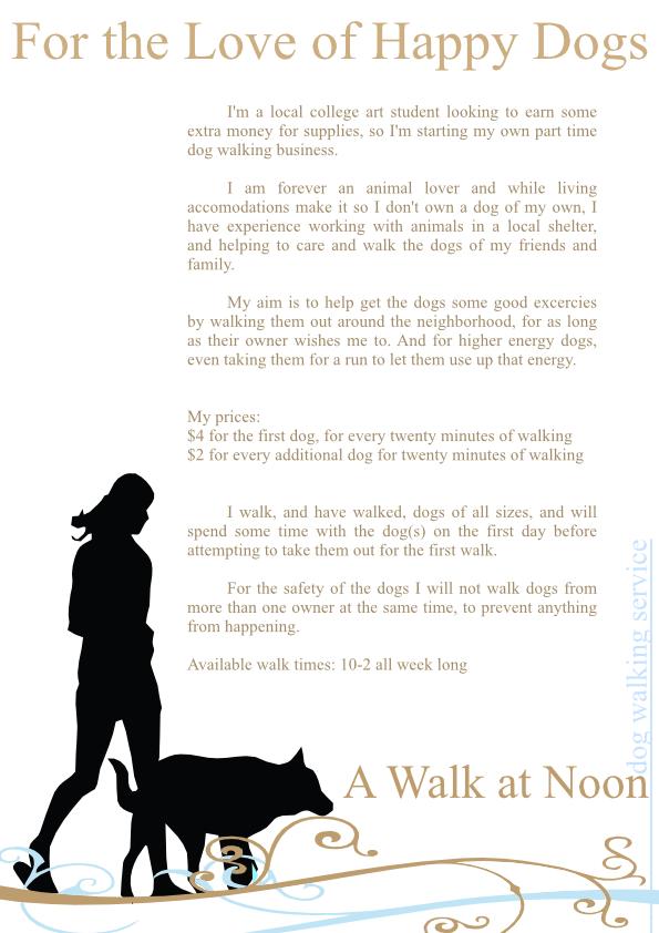 How To Make Dog Walking Flyers Demirediffusion