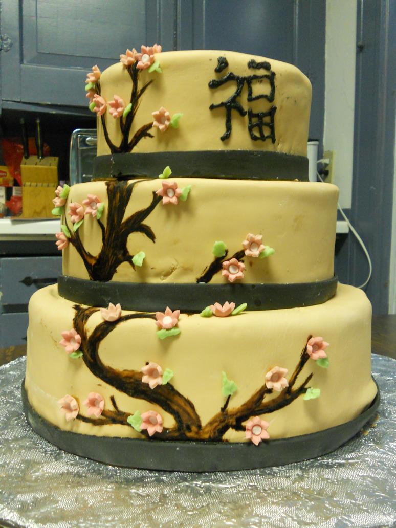 cherry blossom wedding cake by KatsumiShiokawa on DeviantArt
