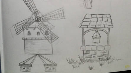 Windmill and well