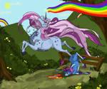 Running the Rainbow by TheMushman