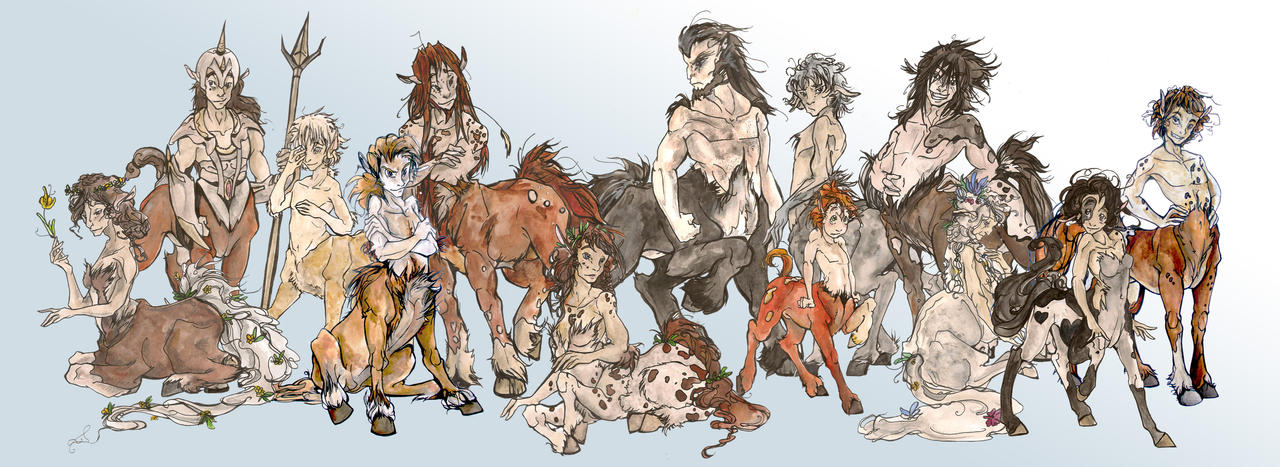 Centaur Herd! by TheMushman