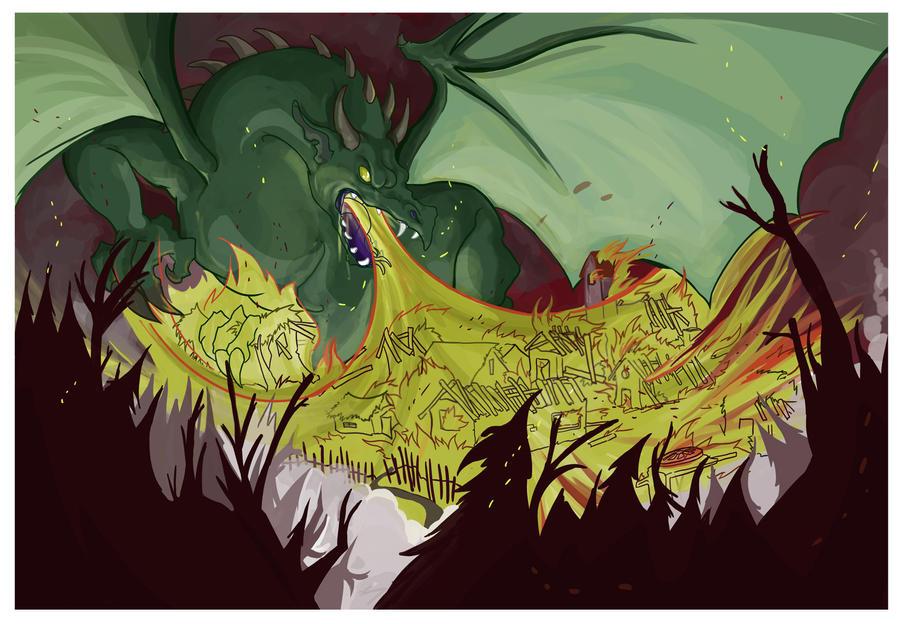 Dragon SpeedPaint by TheMushman