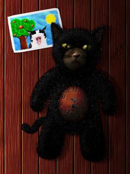 Stuffed Toy Kitty Clock