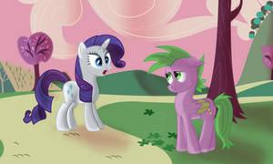 Rarity meets Spike by SergRus