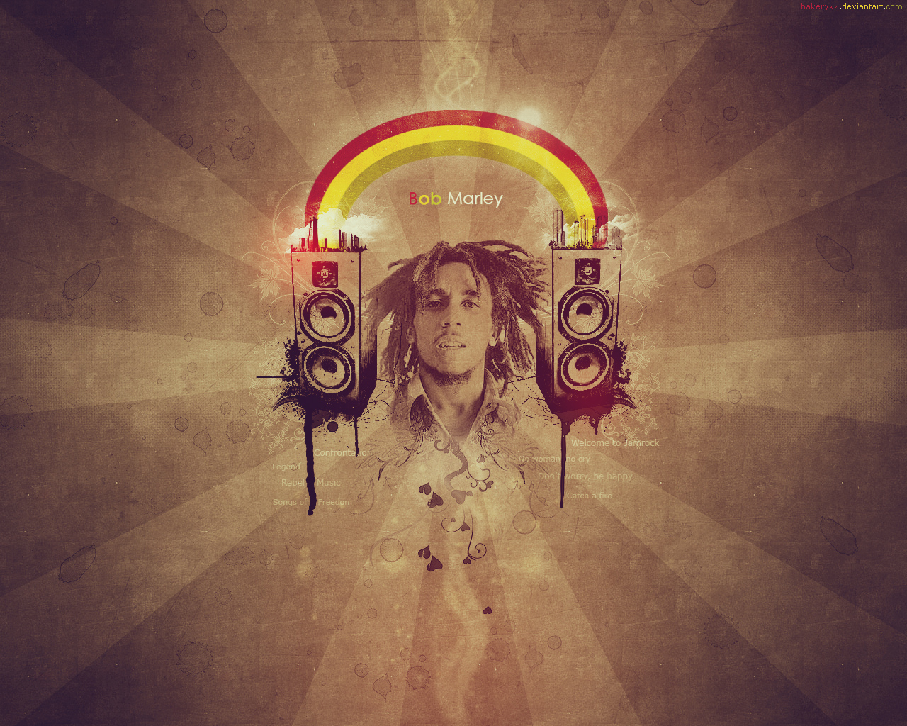 Bob Marley Wallpaper by hakeryk2