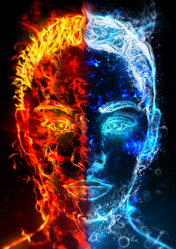 Dualism - Fire and Water by hakeryk2 on DeviantArt