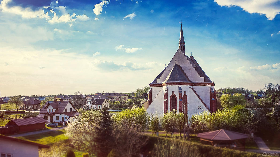 Parafia Kupno church 2 by hakeryk2