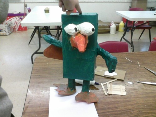 Perry the Platypus paper mache by CrashSolar