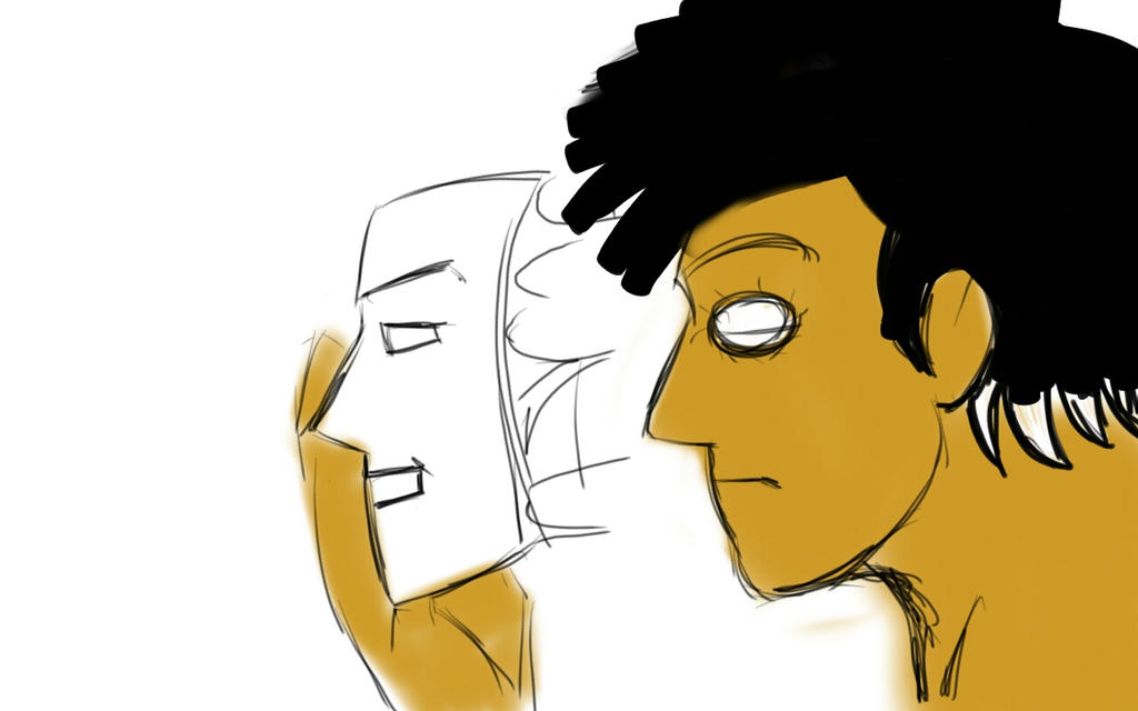 Fun face vs internal misery by SindKhalashi