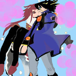 Yusei and Akiza by Blackcatshadow234