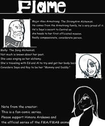Flame character line up vol 1 pg 2  by Blackcatshadow234