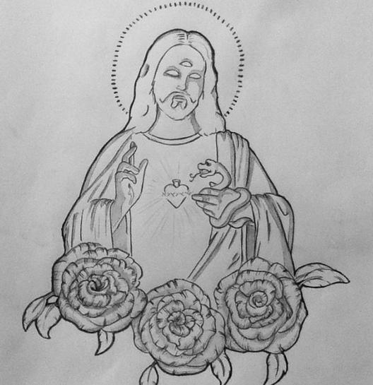 Religious Tattoo Sketches un Religious Tattoo Design by