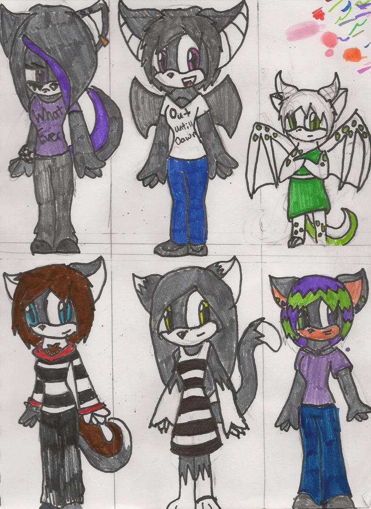 more female adoptable characters :open: by Emogirl5677