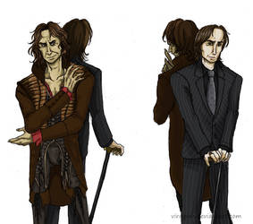 :Once Upon A Time: Gold and Rumplestiltskin by Viragom