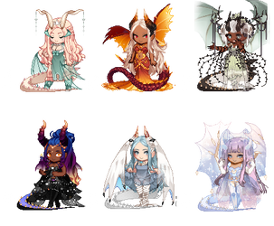 Gaia Adopts [OTA] Dragons CLOSED by Witchy-Adopts