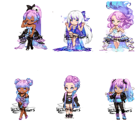 Gaia Adopts [OTA] Galaxy Girls (1/6 OPEN by Witchy-Adopts