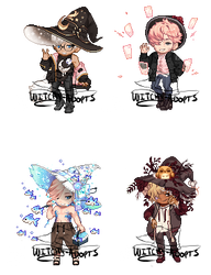Gaia Adopts [OTA] Witch Boys (PENDING) by Witchy-Adopts