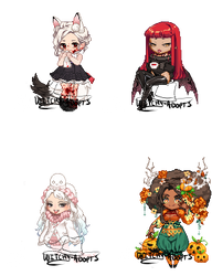 Gaia Adopts [OTA] Halloween Adopts (1/4 OPEN) by Witchy-Adopts