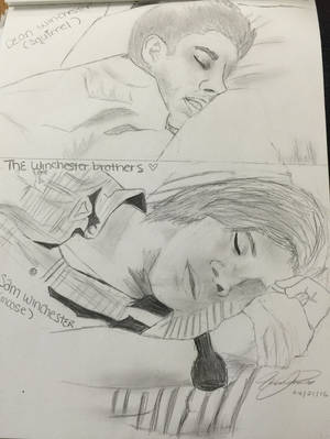 The winchester brother sleeping  by Strawberrykiss1