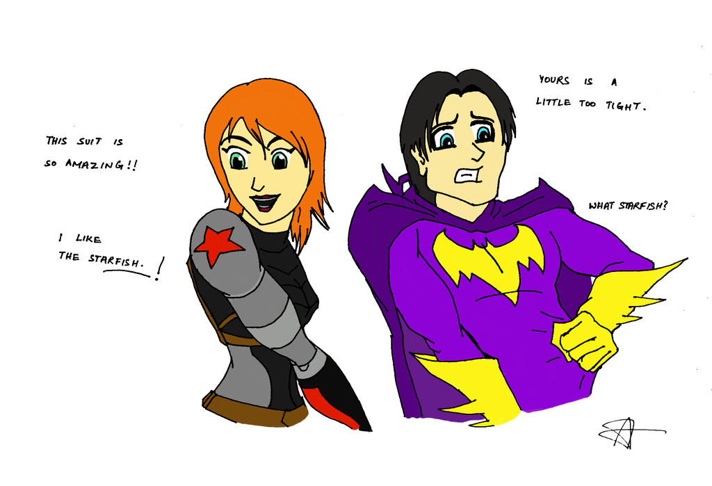 Babs and Bucky! by darthsomeone