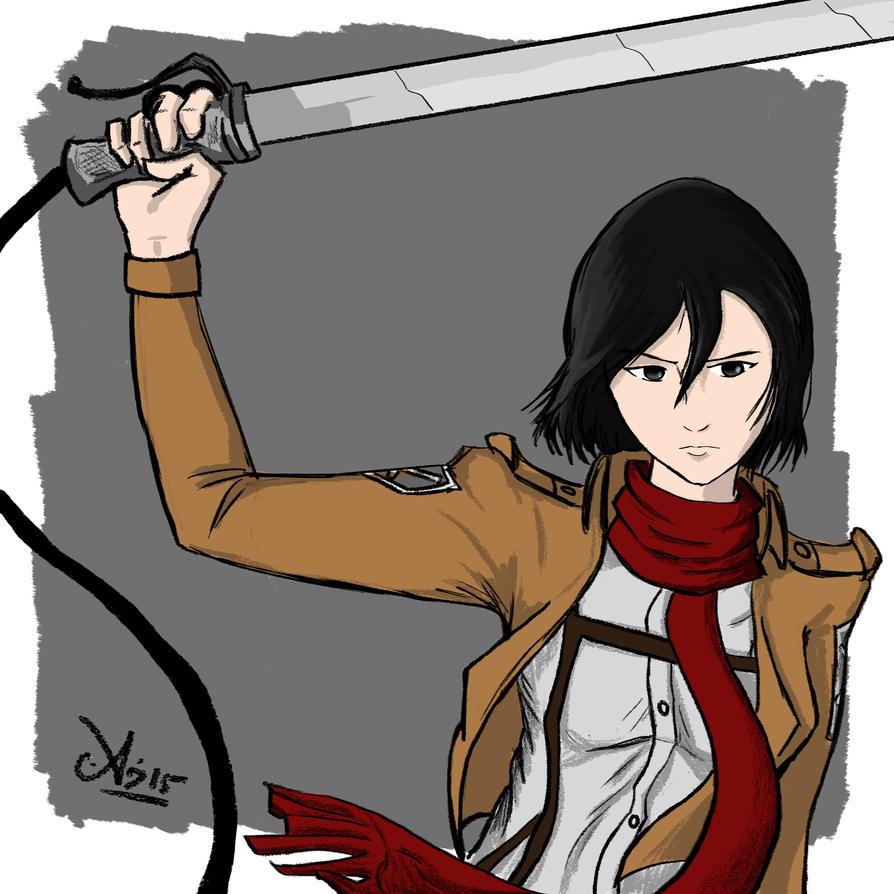 Mikasa Ackerman by darthsomeone