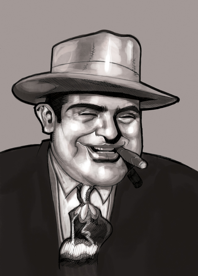 a biography of al capone a gangster Alphonse gabriel al capone (/æl kəˈpoʊn/ january 17, 1899 – january 25, 1947) was an american gangster who led a prohibition-era crime syndicate.
