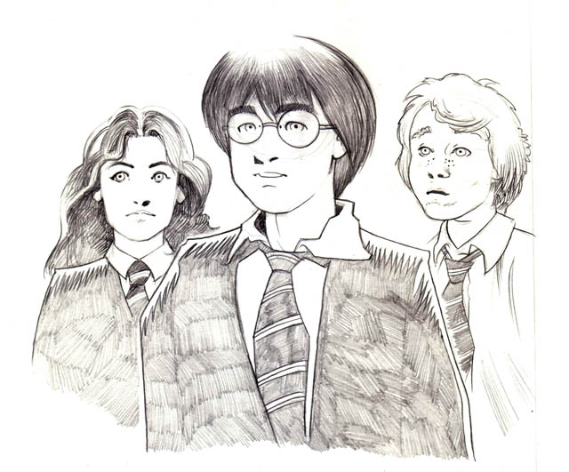 Harry Potter Hermione And Ron By Dessin75 On Deviantart