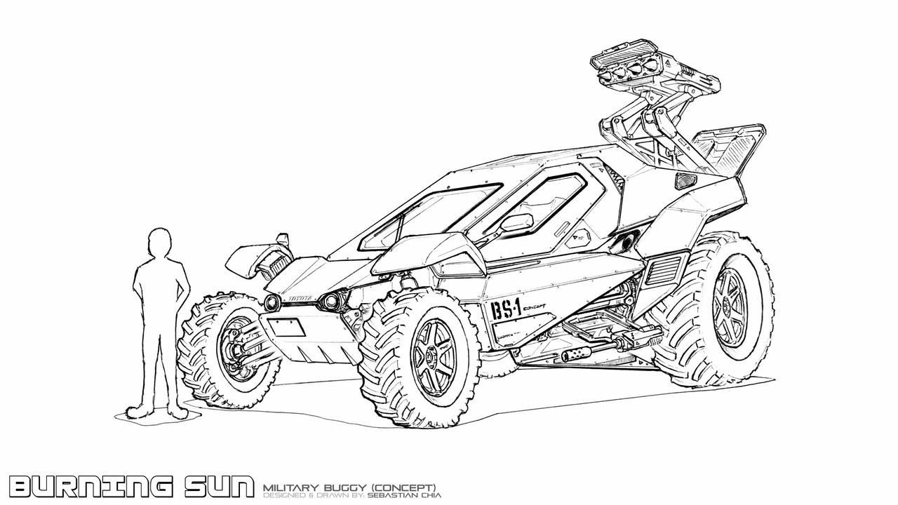dune buggy racer coloring pages - photo#8