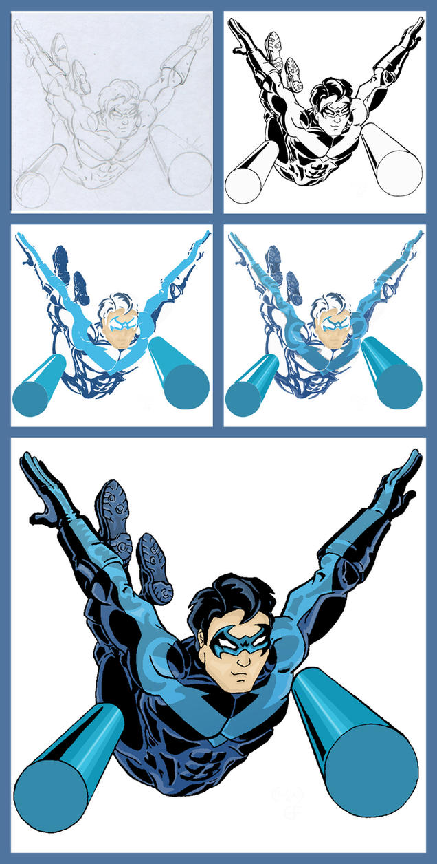 Nightwing - Process by GreenArrow on DeviantArt