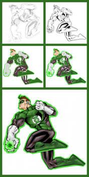 Green Lantern - Hal - Process