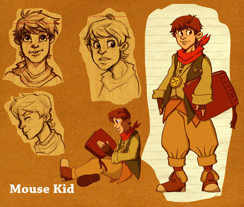 Character design: Mouse kid